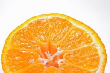 Detail einer Mandarine