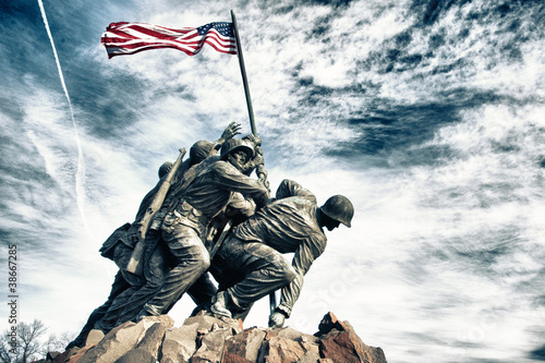 Spoed canvasdoek 2cm dik Standbeeld Marine Corps War Memorial