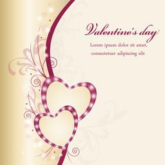 Sfondo con cuori e ghirigori - san valentino