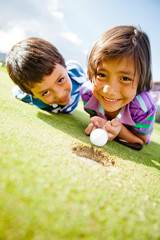 Kids enjoying golf