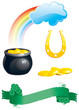 set of icons for St. Patrick's Day