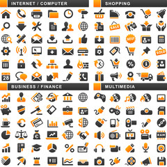 132 Orange Black Web Icons
