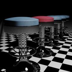 Aligned stools
