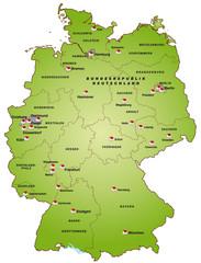 Deutschland als Internetkarte