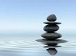 Leinwanddruck Bild - Zen stones