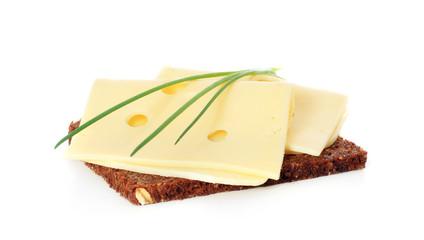 Vollkornbrot mit Käse