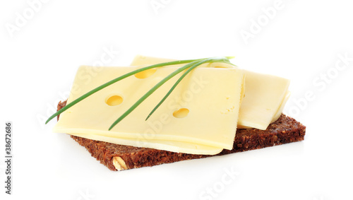 Vollkornbrot mit Käse - 38672686