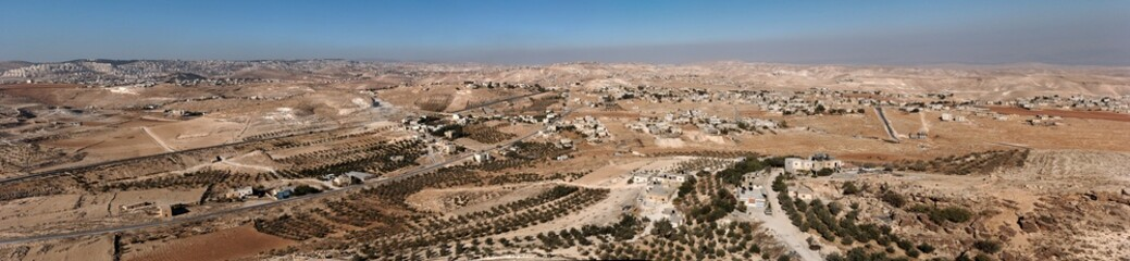 Arab villages in desert around Herodion near Bethlehem