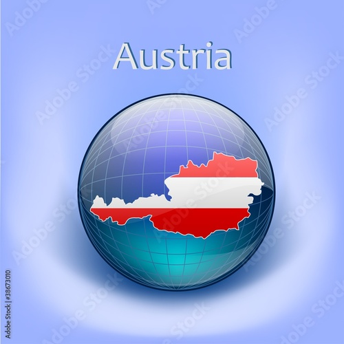 Australian Flag in the globe
