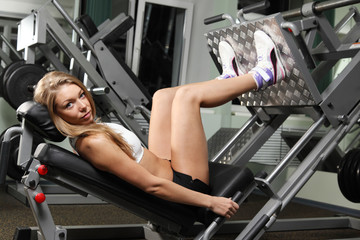 Girl do exercise for legs