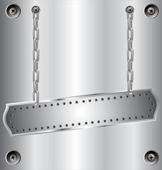 metal background with chain