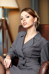 elegant businesswoman in a office interior