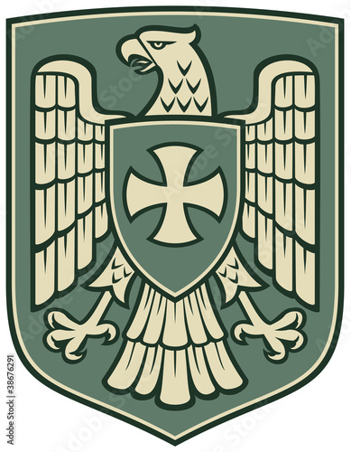 eagle and the cross (coat of arms, emblem)