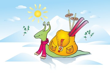"""""""snail in the winter"""""""
