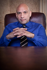 serious businessman portrait
