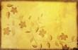 floral pattern on old grunge paper