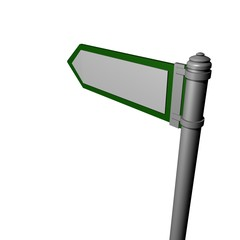 One blank signpost