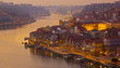 old town of Porto on sunset, Portugal