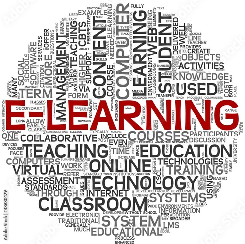 E-learning concept in tag cloud