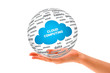 Hand holding a Cloud Computing Sphere