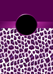 Purple Leopard Print with Ribbon and Rosette