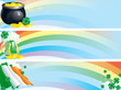 Vector set of banners for St. Patrick's Day