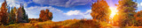 Fototapety Autumn panoramic landscape with mixed forest
