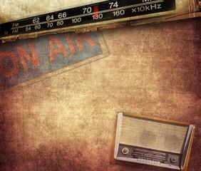 Vintage radio composition