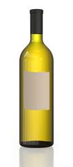 Bright green bottle of wine