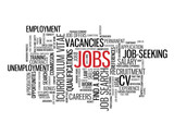 JOBS Tag Cloud (employment recruitment careers vacancies button) poster