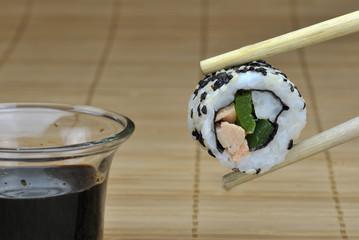 Sushi Röllchen Bambus