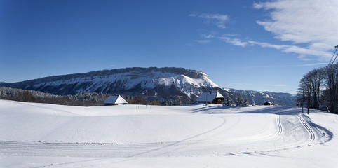 La Féclaz, pistes de ski de fond
