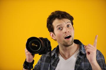 photographer has an idea or inspiration