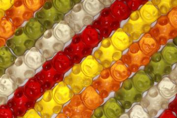 Muster aus Gummibärchen