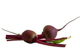 Beet roots isolated on white