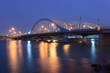 Al Maqtaa bridge in Abu Dhabi, United Arab Emirates