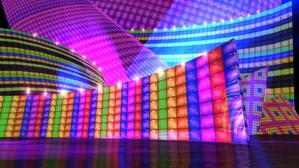 The disco stage set e