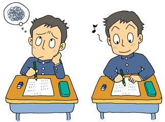 試験 男子学生