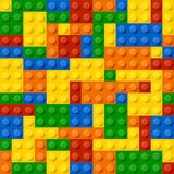 Fototapety Plastic construction blocks. Seamless illustration.