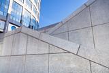 zigzags of outdoor granite stairways poster