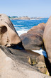 rocks on Pink Granite Coast in France