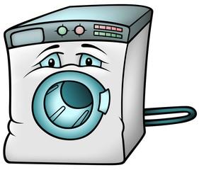 Washing Machine - Colored Cartoon Illustration
