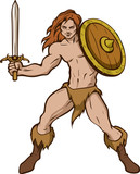 Barbarian with shield