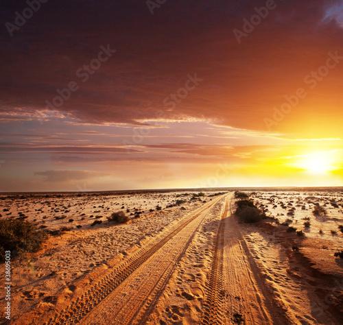 Road in desert - 38695003