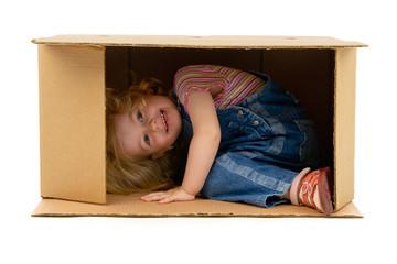 girl inside a Box