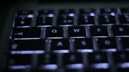 Illuminated keyboard slide