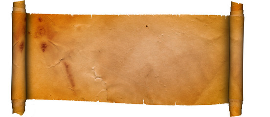 Scroll of ancient parchment.Grunge paper.