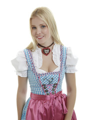 Woman in Dirndl with necklace