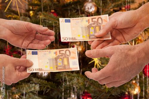 Weihnachten gegenseitig Geld schenken - Geldgeschenk