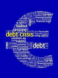 DEBT CRISIS Tag Cloud (eurozone euro symbol recession europe)